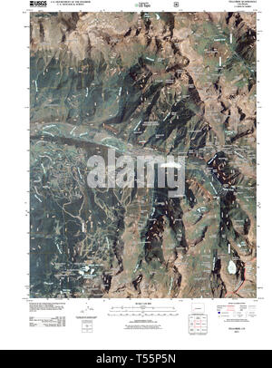 USGS TOPO Map Colorado CO Telluride 20110520 TM Restoration - Stock Photo