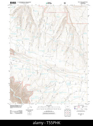 USGS TOPO Map Colorado CO The Glade 20110610 TM Restoration - Stock Photo