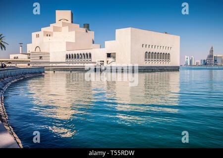 Waterfront Museum of Islamic Art in Doha, Qatar - Stock Photo