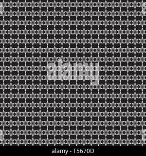Monochrome geometric seamless pattern. Stars ornament on a black background. Repeatable design for decoration, wallpaper, background, texture, fashion - Stock Photo