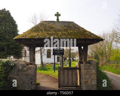 Kilve, Somerset, UK. 18th Apr 2019. St Mary the Virgin Church. - Stock Photo
