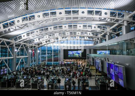 SJO airport Costa Rica inside view - Stock Photo