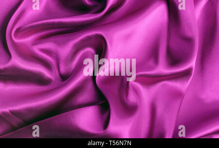 Smooth elegant pink fabric silk or satin luxury cloth texture can use as abstract background - Stock Photo