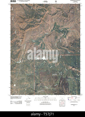 USGS TOPO Map Colorado CO Thornburgh 20110520 TM Restoration - Stock Photo