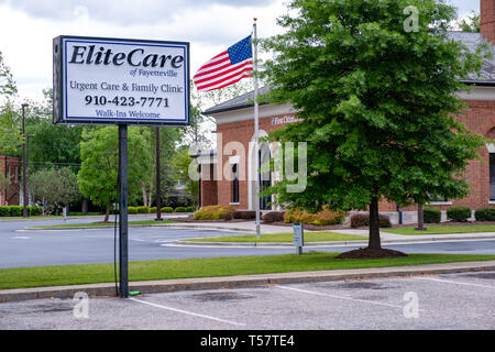 HOPE MILLS, NC - CIRCA April 2019: Elite Care of Fayetteville Urgent Care Family Clinic - Stock Photo