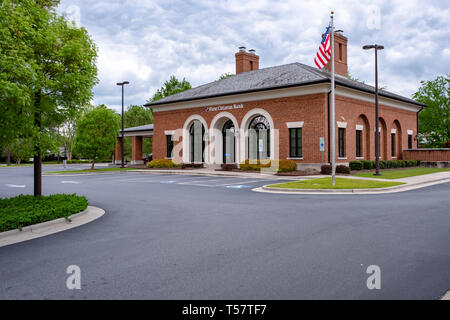 HOPE MILLS, NC - CIRCA April 2019: First Citizens Bank Main Street - Stock Photo