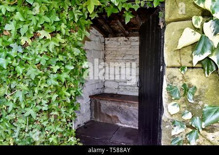 The Outdoor Privy. - Stock Photo
