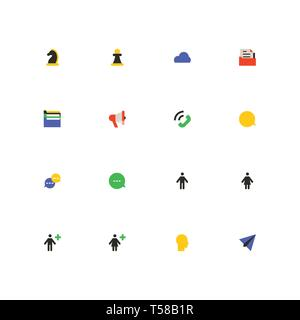 Business and marketing - colorful material design icons set - Stock Photo