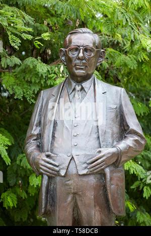 Claude Pepper Statue  in Bayfront Park Miami Florida USA - Stock Photo