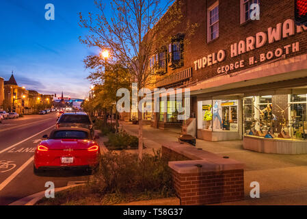Tupelo Hardware Co. (where Elvis Presley's mother bought Elvis his first guitar in 1946) on Main Street in Historic Downtown Tupelo, MS. (USA)