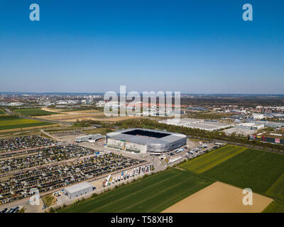 WWK arena - the official football stadium of FC Augsburg - Stock Photo