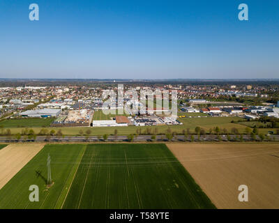 Haunstetten, a suburb of Augsburg in Germany - Stock Photo