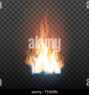 Animation Stage Of Decorative Fire Flame Vector - Stock Photo