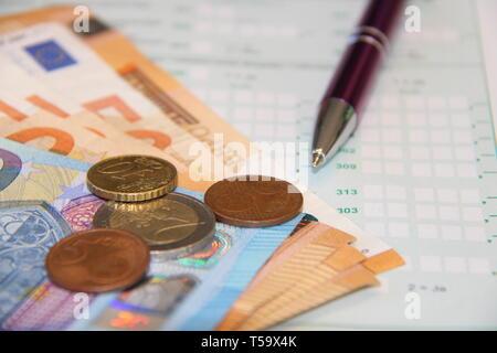 Money Geld Steuererklärung business - Stock Photo