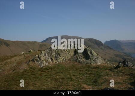 Rannerdale Knott, Buttermere Valley, Cumbria, UK - Stock Photo