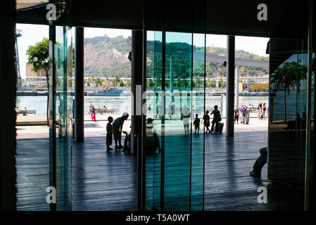 Mare Magnum Commercial center, Barcelona, Catalonia, Spain - Stock Photo