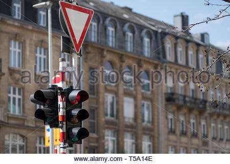 Road signs. Traffic light on a city street. Traffic control vehicles. Traffic Laws. Road signs. Traffic light on a city street. Traffic control vehicl - Stock Photo