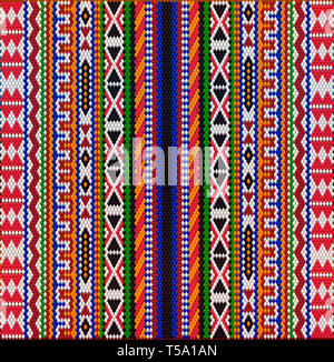 The traditional ornament of the inhabitants of the east and the Arab world, in which rich colors attract good luck and wealth. - Stock Photo