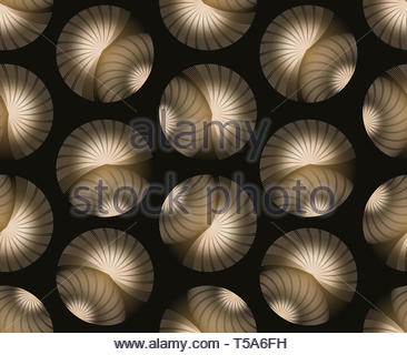 seamless abstract eyelashes bubbles in ivory and black - Stock Photo