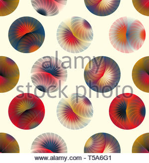 seamless abstract eyelashes bubbles in ivory red gold - Stock Photo