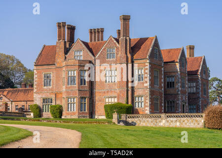 Breamore House, an Elizabethan manor house built in the 16th century located in the Hampshire countryside, Hampshire, England, UK - Stock Photo