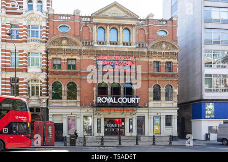 Royal Court Theatre, Sloane Square, Chelsea, Royal Borough of Kensington and Chelsea, Greater London, England, United Kingdom - Stock Photo