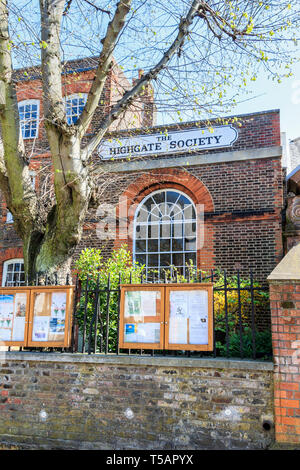 The Highgate Society Building in South Grove, Highgate, London, UK - Stock Photo