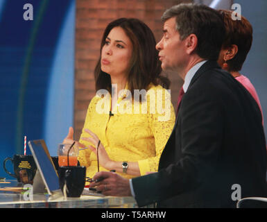 NEW YORK, NY - April 22,: Cecilia Vega on the set of Good Morning America in New York City on April 22, 2019. Credit: RW/MediaPunch - Stock Photo