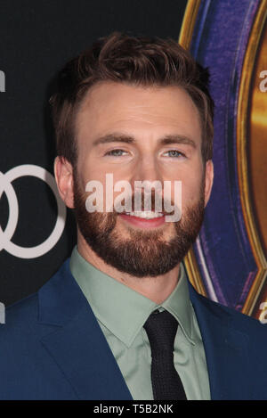 Los Angeles, USA. 22nd Apr 2019. Chris Evans  04/22/2019 The world premiere of Marvel Studios''Avengers: Endgame' held at The Los Angeles Convention Center in Los Angeles, CA Photo by Izumi Hasegawa / HollywoodNewsWire.co Credit: Hollywood News Wire Inc./Alamy Live News - Stock Photo