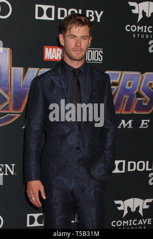 Los Angeles, USA. 22nd Apr 2019. Chris Hemsworth  04/22/2019 The world premiere of Marvel Studios''Avengers: Endgame' held at The Los Angeles Convention Center in Los Angeles, CA Photo by Izumi Hasegawa / HollywoodNewsWire.co Credit: Hollywood News Wire Inc./Alamy Live News - Stock Photo