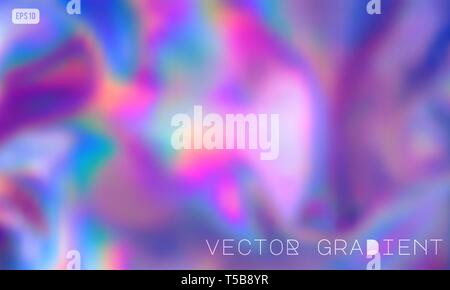 Abstract Modern pastel colored holographic vector gradient background in 80s style. Synthwave. Vaporwave style. Retrowave, retro futurism, webpunk - Stock Photo