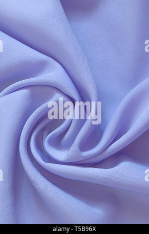 Closeup of rippled purple silk fabric, Beautiful and smooth silk background - Stock Photo
