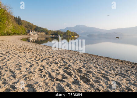 Luss, Loch Lomond, Scotland, UK - Stock Photo