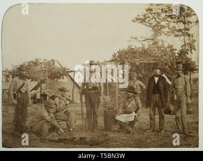 Confederate Camp, Warrington Navy Yard, Pensacola, Florida, USA, by Jay Dearborn Edwards, 1861 - Stock Photo