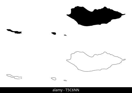 Socotra Governorate (Governorates of Yemen, Republic of Yemen) map vector illustration, scribble sketch Suqutra Archipelago map - Stock Photo