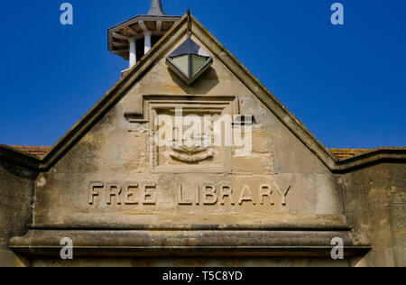 Front elevation of Littlehampton library, West Sussex. The library was built in 1906 and is an Andrew Carnegie legacy library - Stock Photo