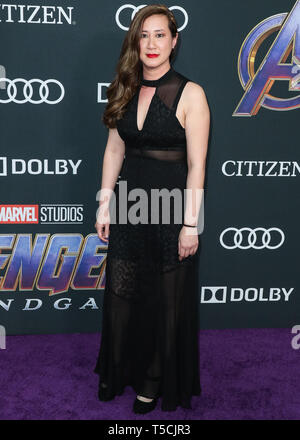 Los Angeles, United States. 22nd Apr, 2019.LOS ANGELES, CALIFORNIA, USA - APRIL 22: Trinh Tran arrives at the World Premiere Of Walt Disney Studios Motion Pictures and Marvel Studios' 'Avengers: Endgame' held at the Los Angeles Convention Center on April 22, 2019 in Los Angeles, California, United States. (Photo by Xavier Collin/Image Press Agency) Credit: Image Press Agency/Alamy Live News - Stock Photo