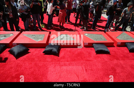 Hollywood, Ca. 23rd Apr, 2019. Atmosphere, at the Marvel Studios' Avengers: Endgame Cast Handprint Ceremony at the TCL Chinese Theatre IMAX in Hollywood, California on April 23, 2019. Credit: Faye Sadou/Media Punch/Alamy Live News - Stock Photo