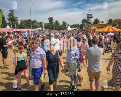 Woodstock, Oxfordshire, UK.  4th August, 2018. Over 120,000 people attended the Countryfile Live, held on the grounds of Blenheim Palace,  during the scorching weekend. Temperatures reached into the 30s  Celsius as hot weather covered the UK. - Stock Photo