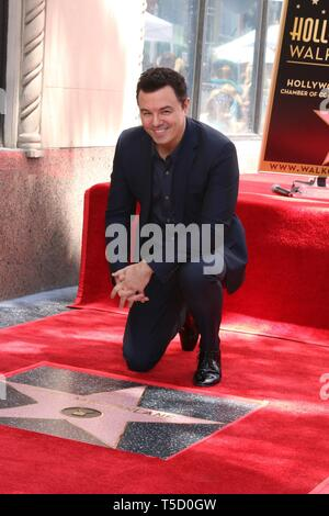 Los Angeles, CA, USA. 23rd Apr, 2019. Seth MacFarlane at the induction ceremony for Star on the Hollywood Walk of Fame for Seth McFarland, Hollywood Boulevard, Los Angeles, CA April 23, 2019. Credit: Priscilla Grant/Everett Collection/Alamy Live News - Stock Photo