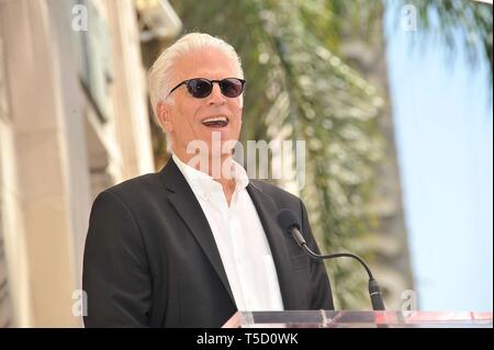 Los Angeles, CA, USA. 23rd Apr, 2019. Ted Danson at the induction ceremony for Star on the Hollywood Walk of Fame for Seth McFarland, Hollywood Boulevard, Los Angeles, CA April 23, 2019. Credit: Michael Germana/Everett Collection/Alamy Live News - Stock Photo