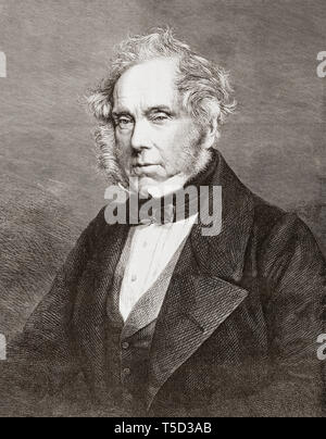 Henry John Temple, 3rd Viscount Palmerston, 1784 - 1865.  British statesman and two times Prime Minister of the United Kingdom.  From The Illustrated London News, published 1865. - Stock Photo