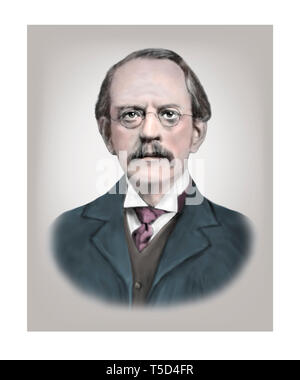 Joseph John Thomson 1856-1940 English Physicist - Stock Photo