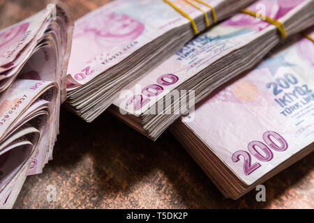 Turkish lira - Stock Photo