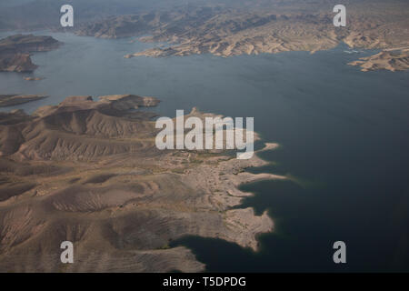 Aerial of Lake Mead National Recreation Area, Arizona - Stock Photo