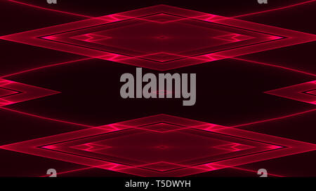 Abstract futuristic background with red colored geometric shapes