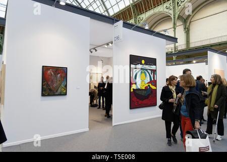Templon Gallery exibited at Paris Art Fair, Paris, 2019, France. Credit: Veronique Phitoussi/Alamy Stock Photo - Stock Photo