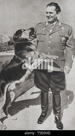 The Marshal Joseph Broz Tito. He was the soul of the Yugoslav resistance and led in its retreat from the mountains an guerilla war against the German  - Stock Photo