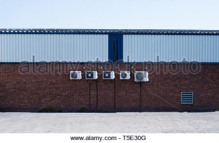 air conditioners on wall - Stock Photo