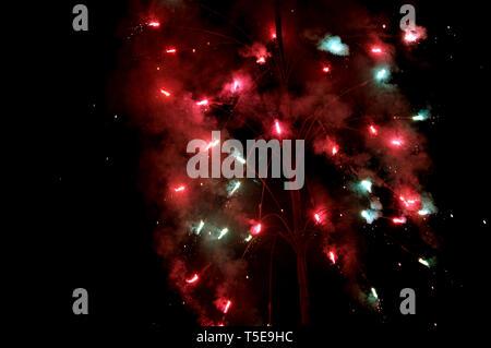 Diwali festival fireworks, India, Asia - Stock Photo